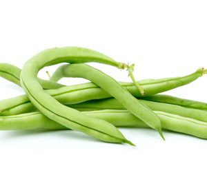 Small pile of green bean pods